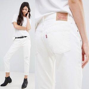 Levi's 501 CT Boyfriend Tumble Wash Roll Up Jeans